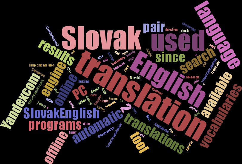 Online automatic translation tools for Slovak and English language