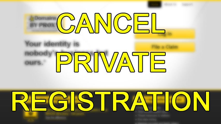 How to cancel private registration within Godaddy and Domainsbyproxy