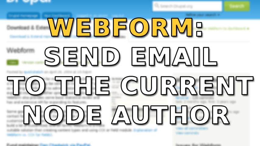 When Webform block is submitted, send email to the current node author + BONUS: Reply-to enhancement